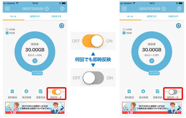 節約モード アプリ