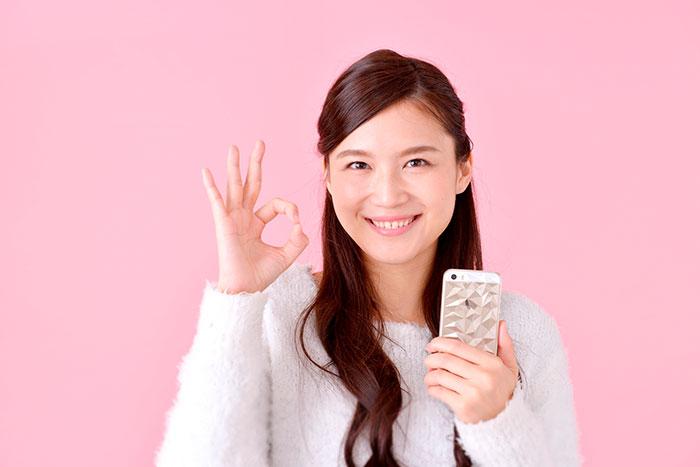 OCNモバイルONEに大満足の女性