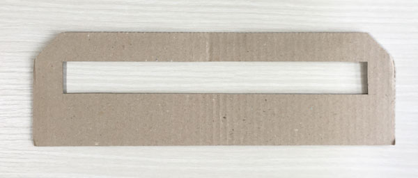 手作りの厚さ測定定規