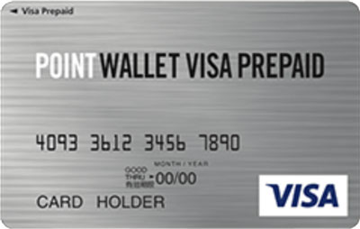 POINT WALLET VISA PREPAIDカード