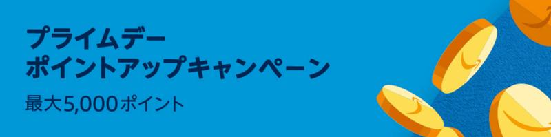 ポイントアップキャンペーン参加(最大5,000ポイント獲得)